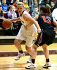 Bob Raines--Montgomery Media<br /> Wood's Aubree Brown pushes past Ryan's Samantha Hicks Feb 19, 2015.