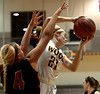 Bob Raines--Montgomery Media<br /> Archbishop Wood's Bailey Greenberg grabs a rebound from Archbishop Ryan's Shannon Glenn Thursday, Feb 19, 2015 at Philadelphia University.