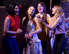 "Bob Raines--Montgomery Media<br /> Maria (Catherine LaSalle) is surrounded by girlfriends played by Julia Kreutzer, left, Alexa Kotch, center, and Sarah Hodgson in, ""I Feel Pretty,"" during a rehearsal on April 27, 2015 for the Young Starrs Theater Company production of, ""West Side Story."""