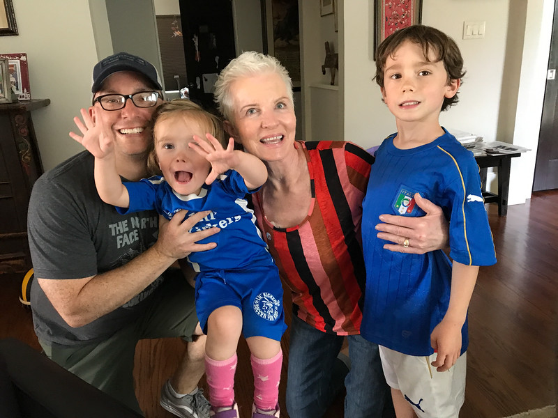 Patty dropped in for a surprise visit. We all loved seeing her. <br /> Celia was 3 years and 11 months old<br /> Evan was 7 years and 1 month old<br /> Denver, CO
