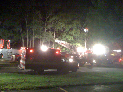 Late night fire apparently due to fuelinga hot generator. Another casualty of Ike!