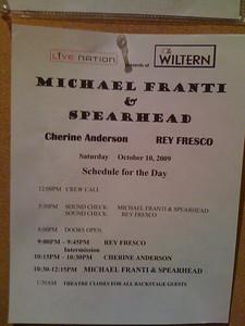 MFSH Schedule - 10/10/09