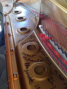 Signed Steinway @ SPAC/ Philadelphia Orchestra - 8/6/09