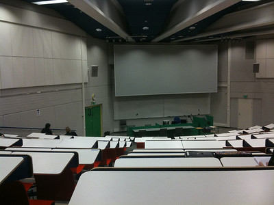 biggest lecture hall in Oulu with me at the last row