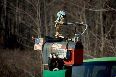 Found this just outside of Fitchburg, MA.  Coolest mailbox I have ever seen!