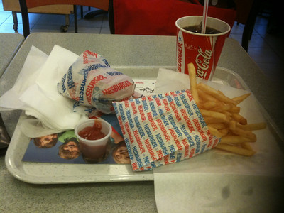 little pampering... cheapest fast food meal $3.80 Euros
