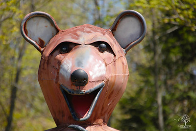 Bear statue at Allison's Orchard, Walpole, NH