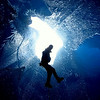 Jared Carlson - Rappelling into Moulin, Mendenhall Glacier, Juneau AK