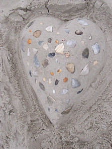 Heart made of shells