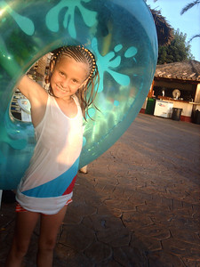 my daughter happy on holiday