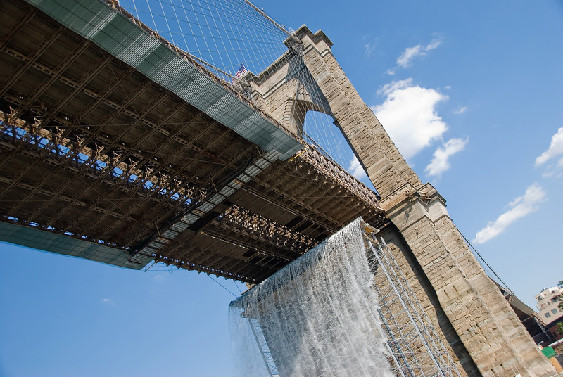 BROOKLYN BRIDGE WATERFALLS