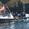 Mick Dawson and Chris Martin as they completed their 189 day journey, rowing across the Pacific from Choshi, Japan to San Francisco, CA.