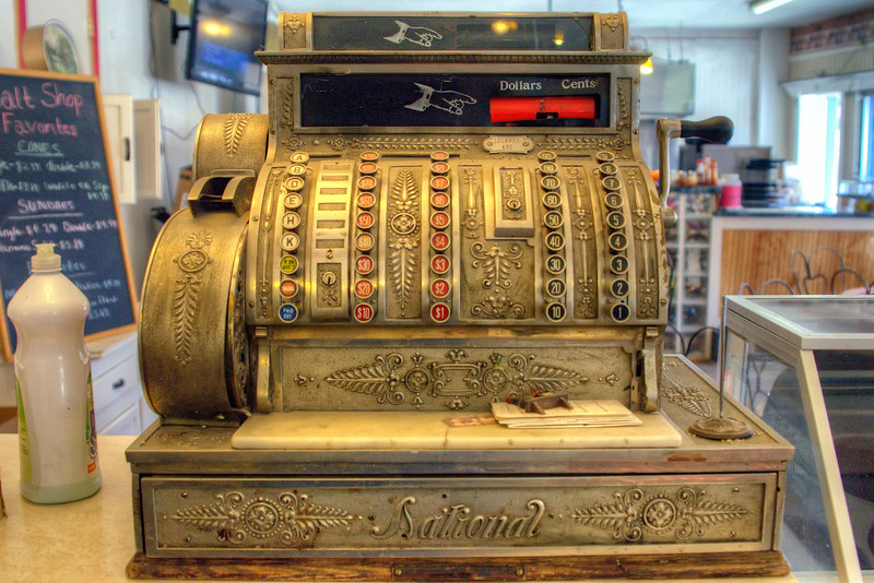 National Cash Register at the malt shop and deli in San Luis, CO
