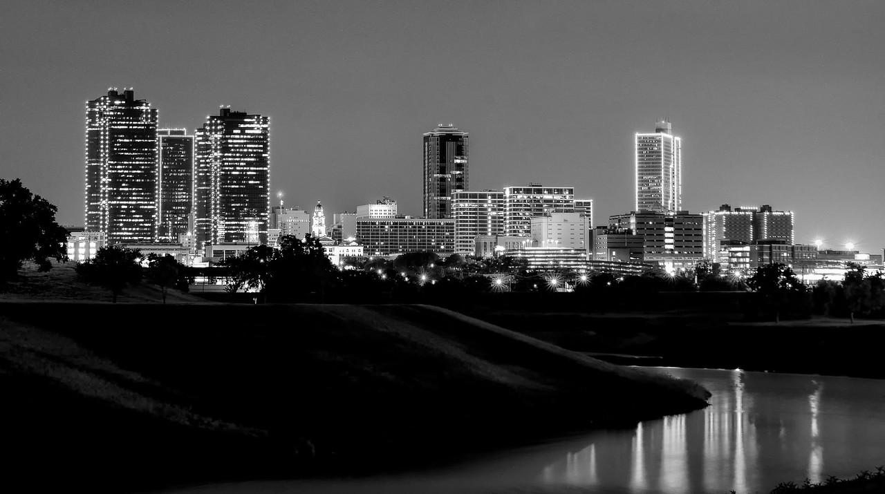 Fort Worth skyline from Trail Drivers Park