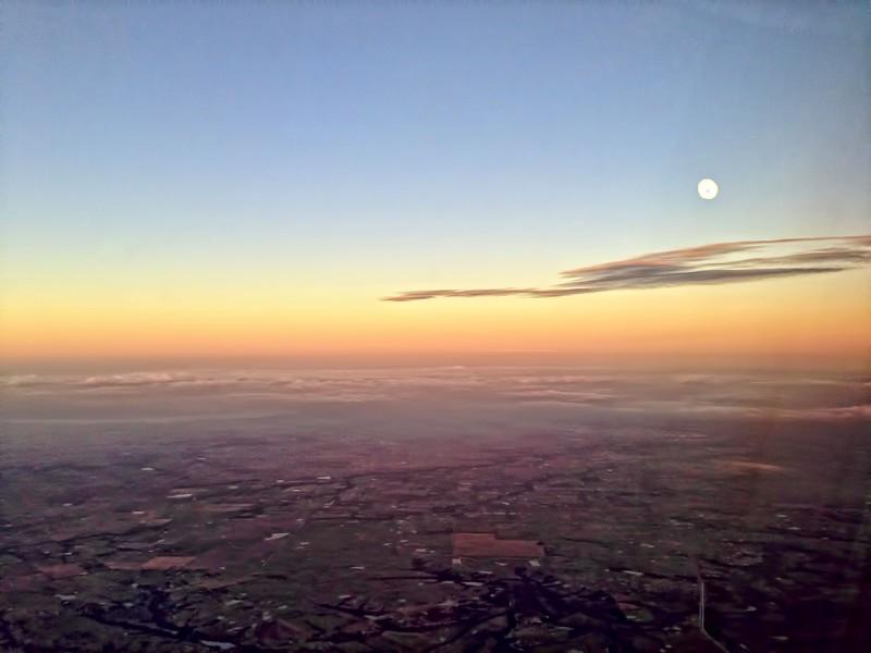 Moonrise over DFW