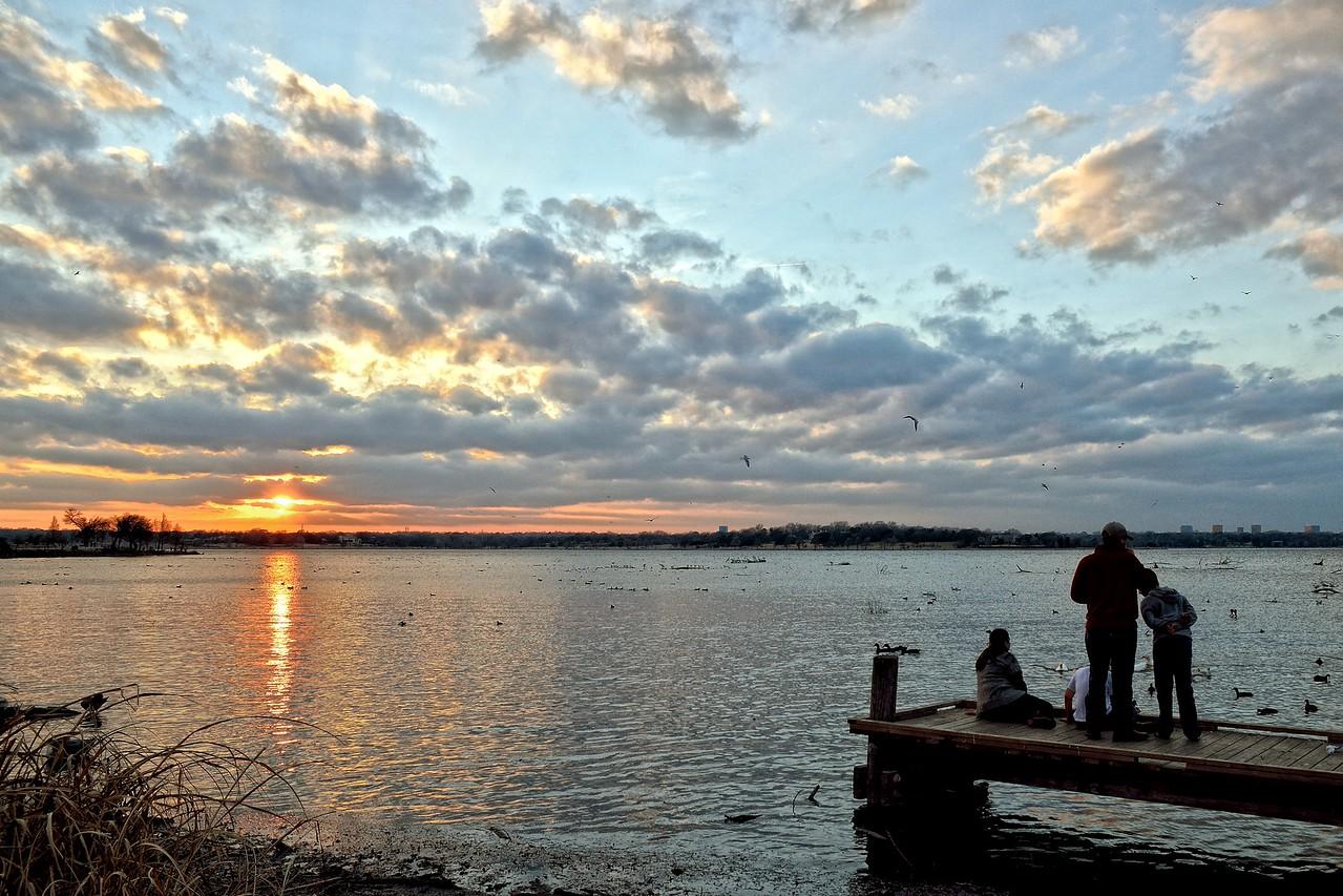 Sittin' on the dock of Sunset Bay