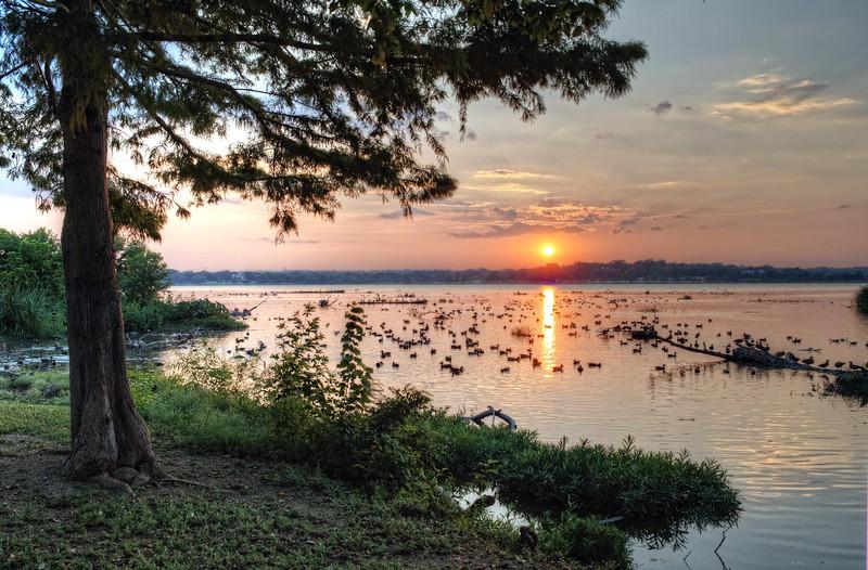 Sunset at aptly named Sunset Bay, White Rock Lake