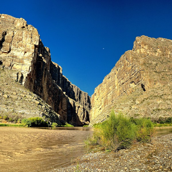 Moonset on Santa Elena Canyon
