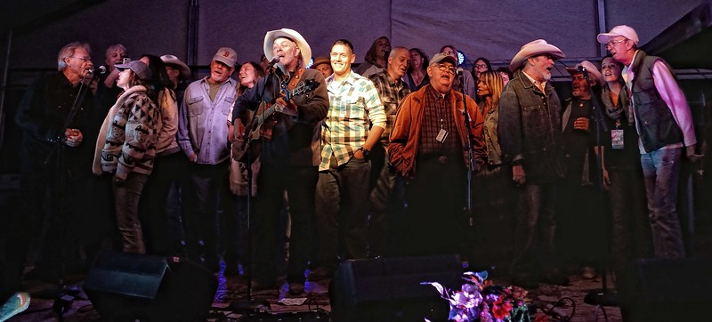 Michael Hearne and friends singing New Mexico Rain