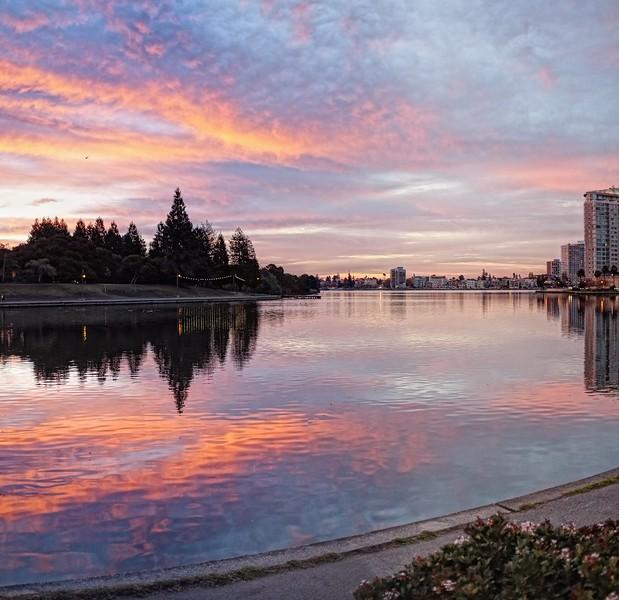 Sunrise on Lake Merritt, Oakland