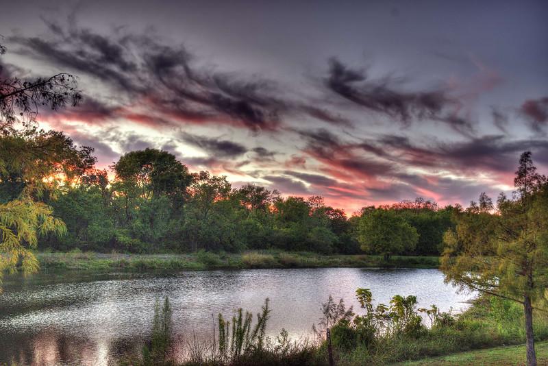 Sunset on Duck Creek Pond
