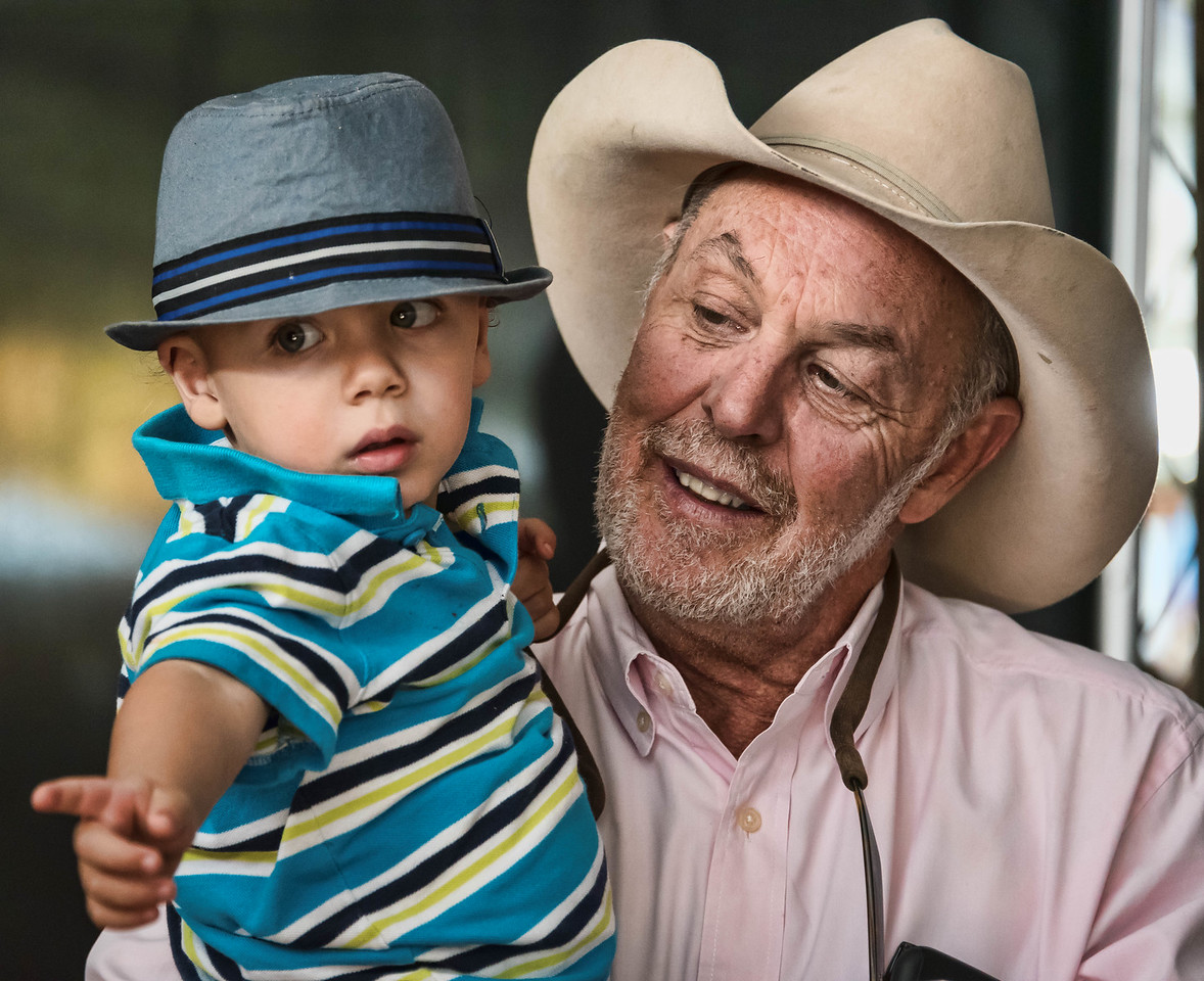 Michael Hearne and grandson