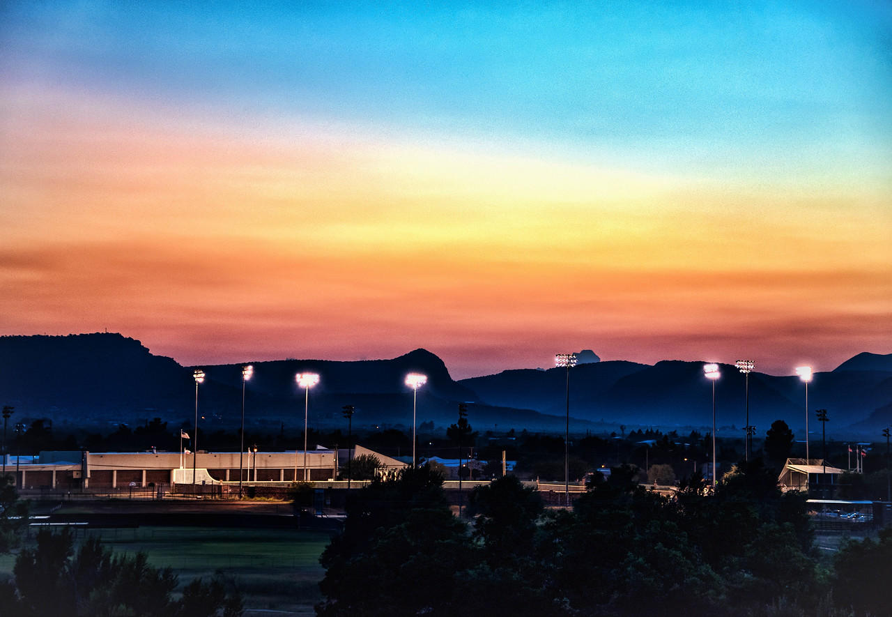 Sunset over Kokernot Field, Alpine