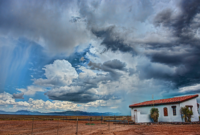 Summer thunderstorm outside Marfa