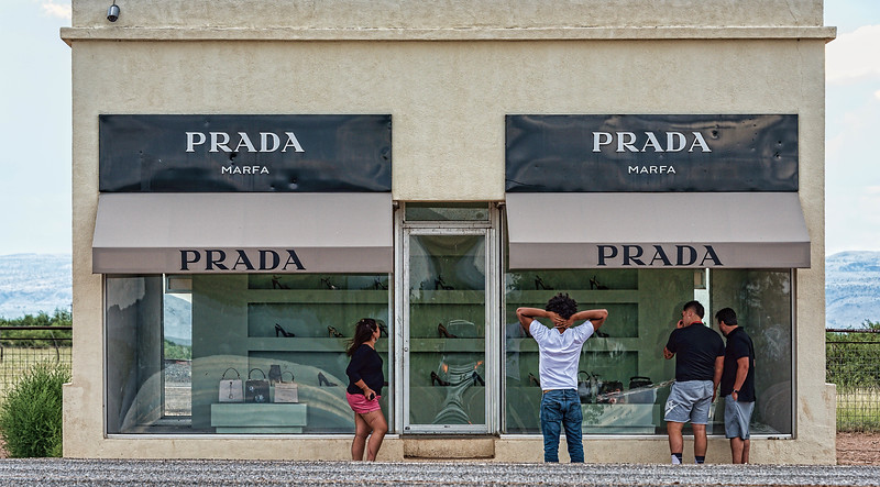 Window shoppers at Prada Marfa