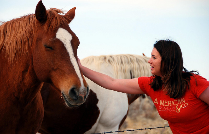 A girl and a horse - love at first sight