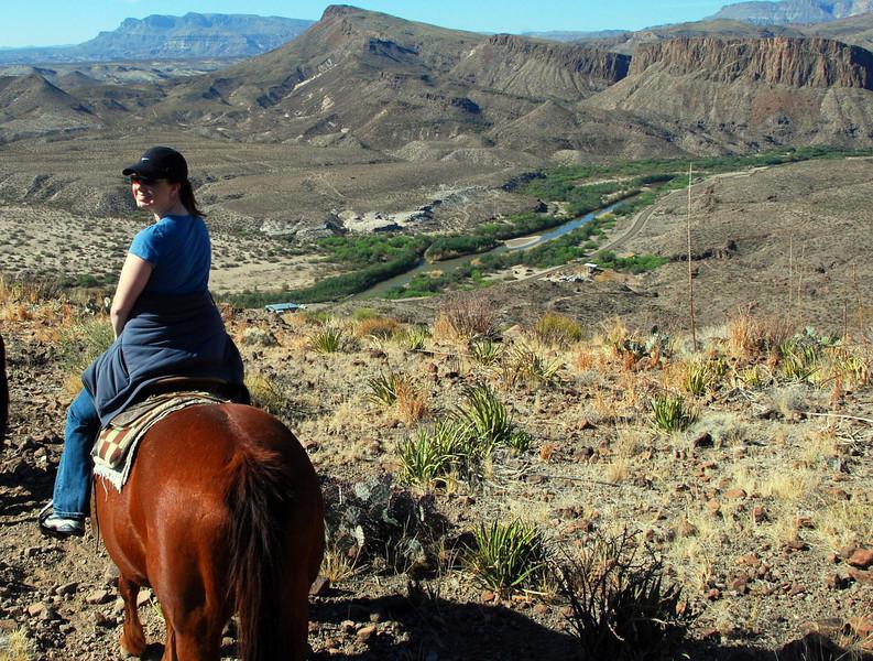 Jennifer with Rio Grande in background