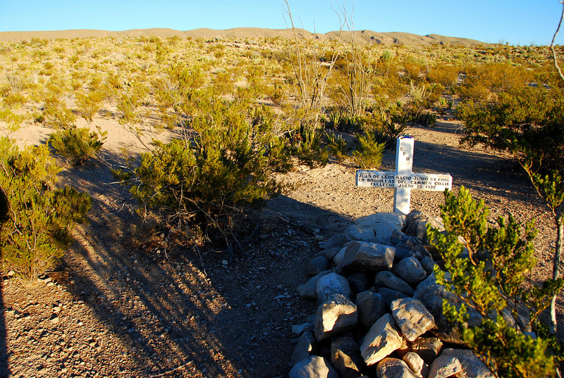 Buried where he dropped in the desert in 1906