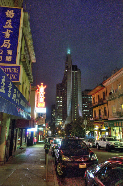 Transamerica Pyramid from Chinatown