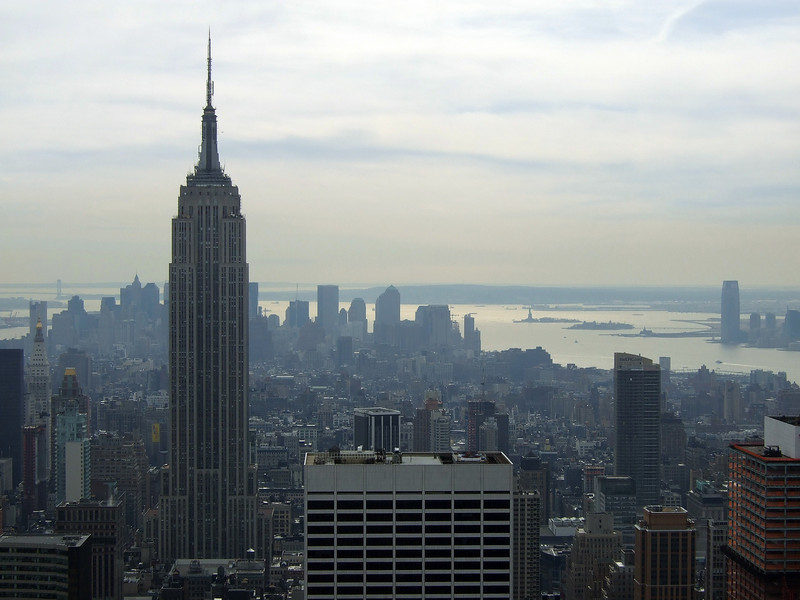 Empire State Building and downtown NY