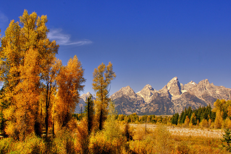 Grand Tetons  from Upper Schwabacher Landing