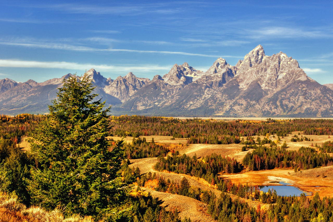 Grand Tetons from Hedrich Pond Overlook