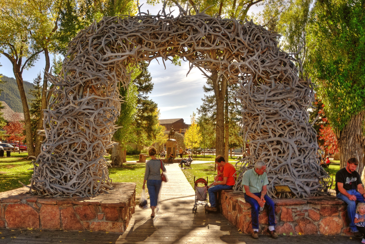 Elkhorn arches at Jackson Hole town square