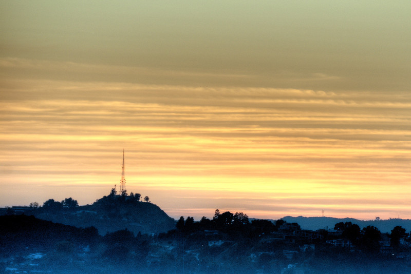 Sunset in the Hollywood Hills