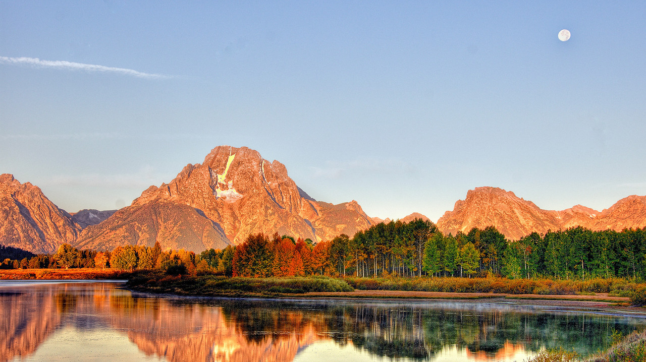 Moonrise over Oxbow Bend