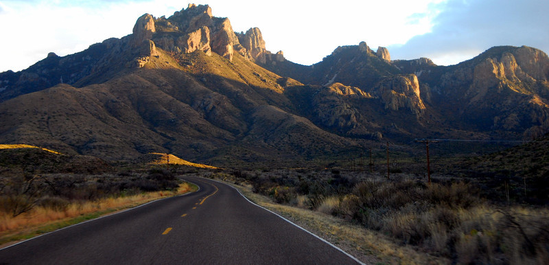 The drive into the Chisos