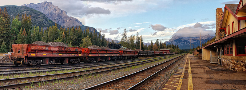 Banff train yard
