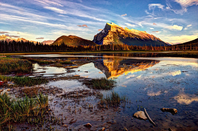 Mount Rundle from Vermilion Lakes, Banff