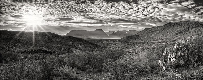 Big Bend National Park monochrome