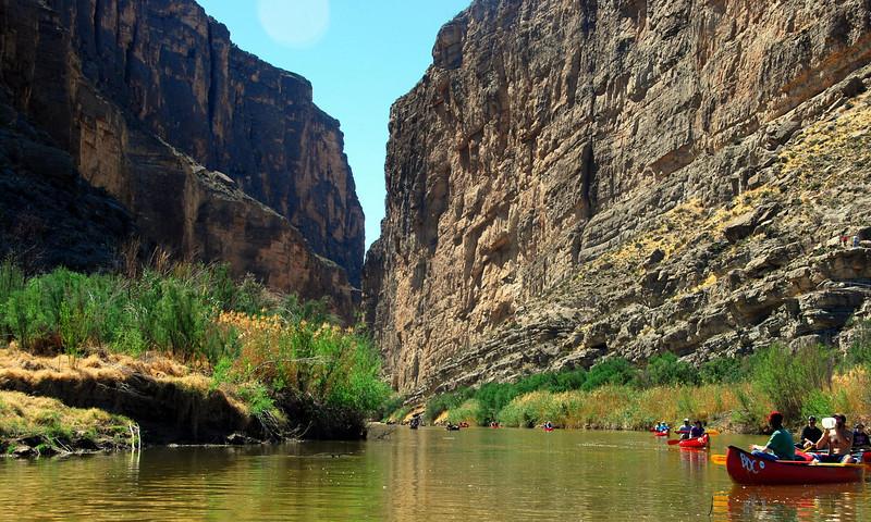 Canoeing in Santa Elena Canyon