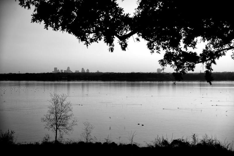 White Rock Lake with Dallas skyline
