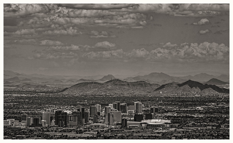 Downtown Phoenix from Dobbins Lookout