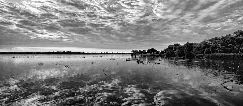 White Rock Lake monochrome