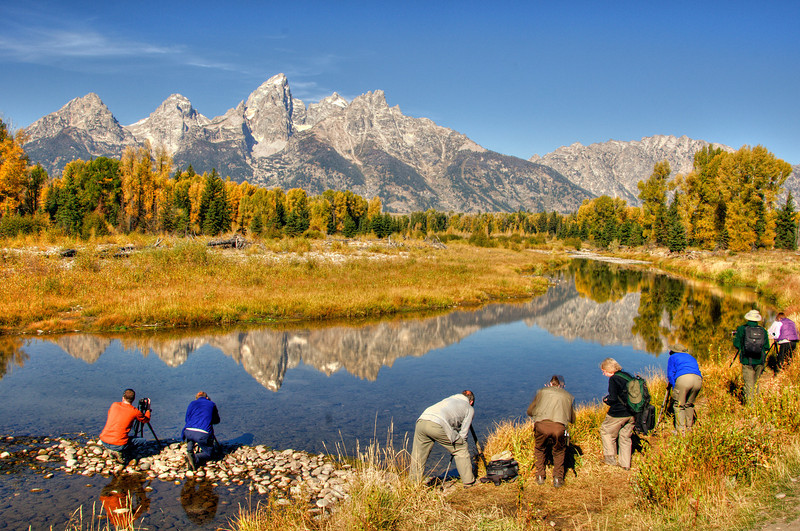 Lower Schwabacher Landing - a popular spot for photographers