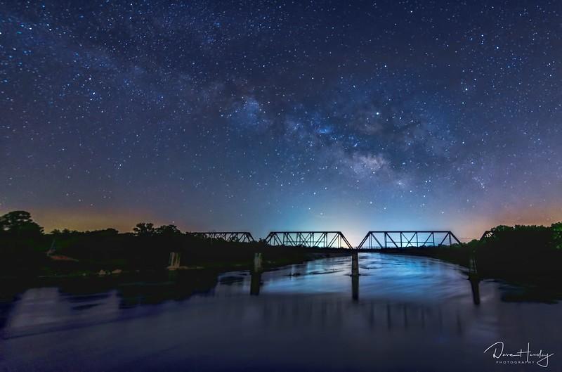 Milky Way over Carpenter's Bluff Bridge