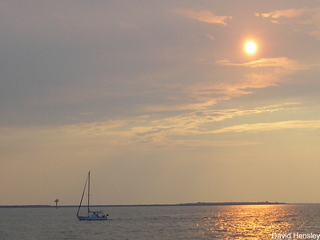 Sunset from the Port Bolivar Ferry